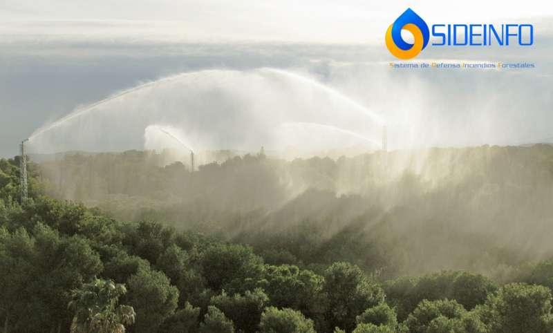 Instalación SIDEINFO® de El Vedat (Torrent) en Valencia operando de forma preventiva ante la amenaza de un incendio forestal./ EPDA