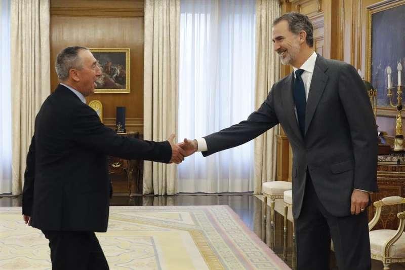 Felipe VI se reúne con el diputado de Compromís Joan Baldoví en la ronda de consultas- EFE