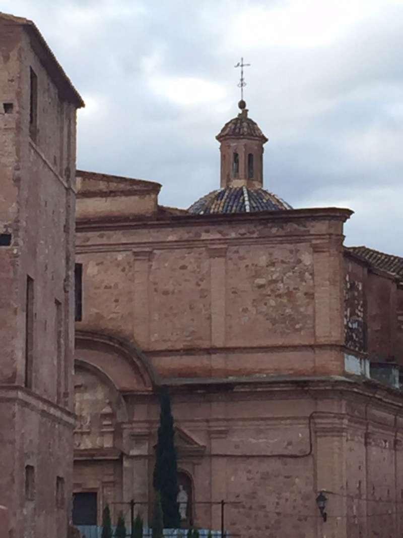 La linterna de la cúpula de la iglesia de Benifairó de les Valls dañada. EPDA