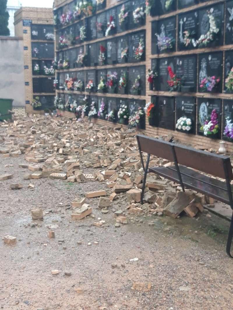 Derrumbe en el cementerio de Burjassot. EPDA