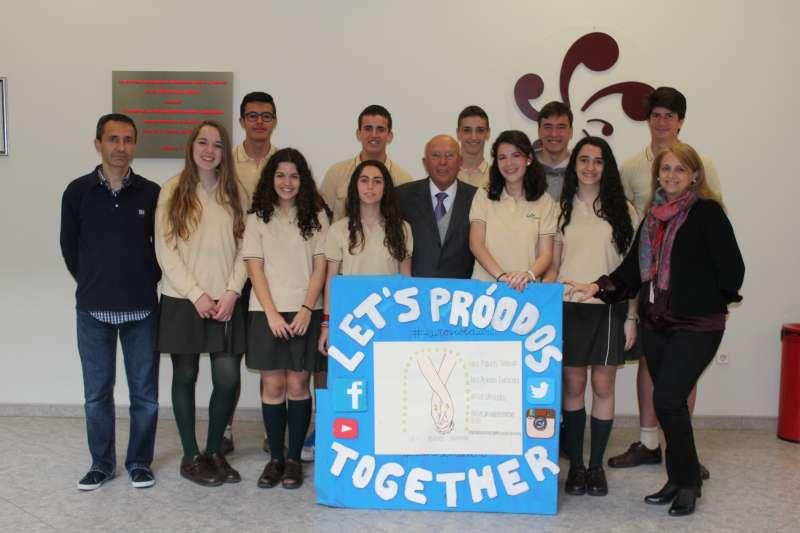Los alumnos del Mas Camarena.//EPDA