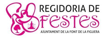 Imagen de la Regidoria de Festes en la Font de la Figuera. Foto: EPDA