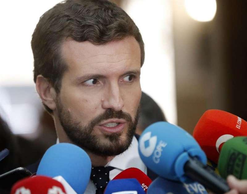 El presidente del PP, Pablo Casado. EFE/Archivo