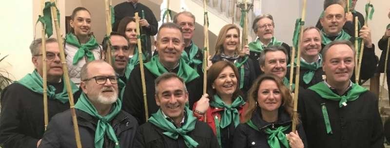 Bonig con líderes del PP de la provincia de Castellón. FOTO PPCV.COM