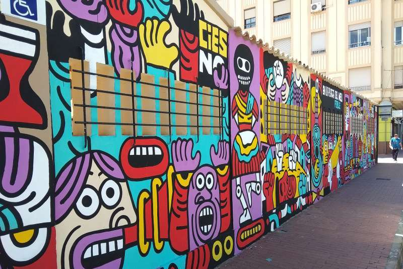 Mural polémico del Mercado Municipal de Sagunt. EPDA