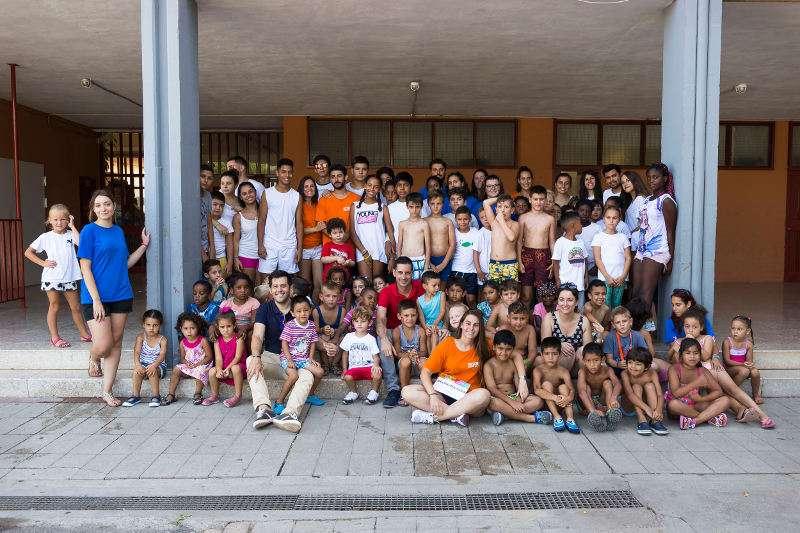 Niños y niñas del comedor social de verano en Mislata. EPDA