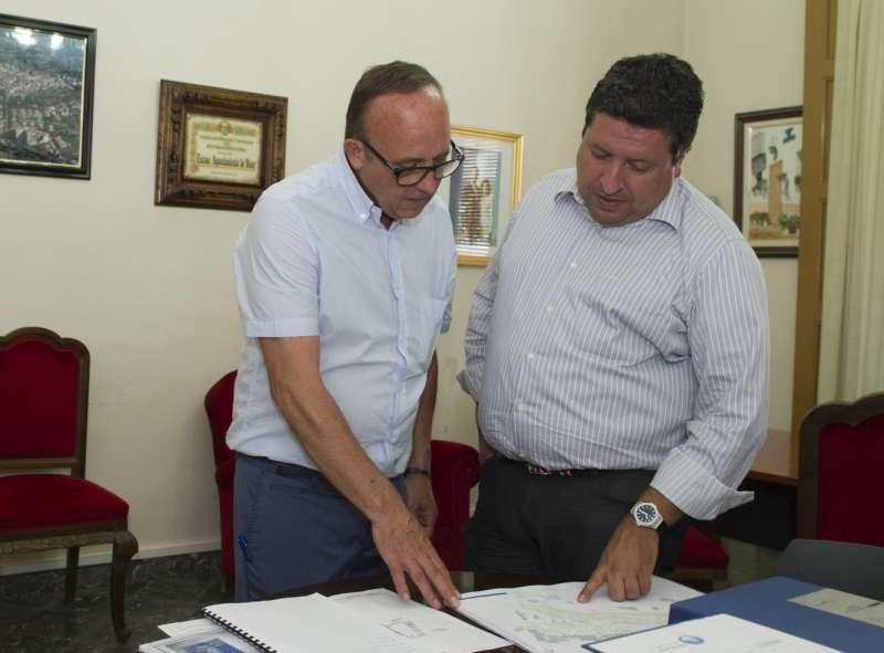 El alcalde de Viver con el presidente de la Diputación