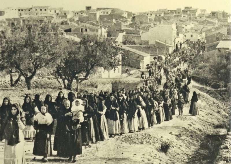 Romería a la Cueva Santa a principios del siglo XX