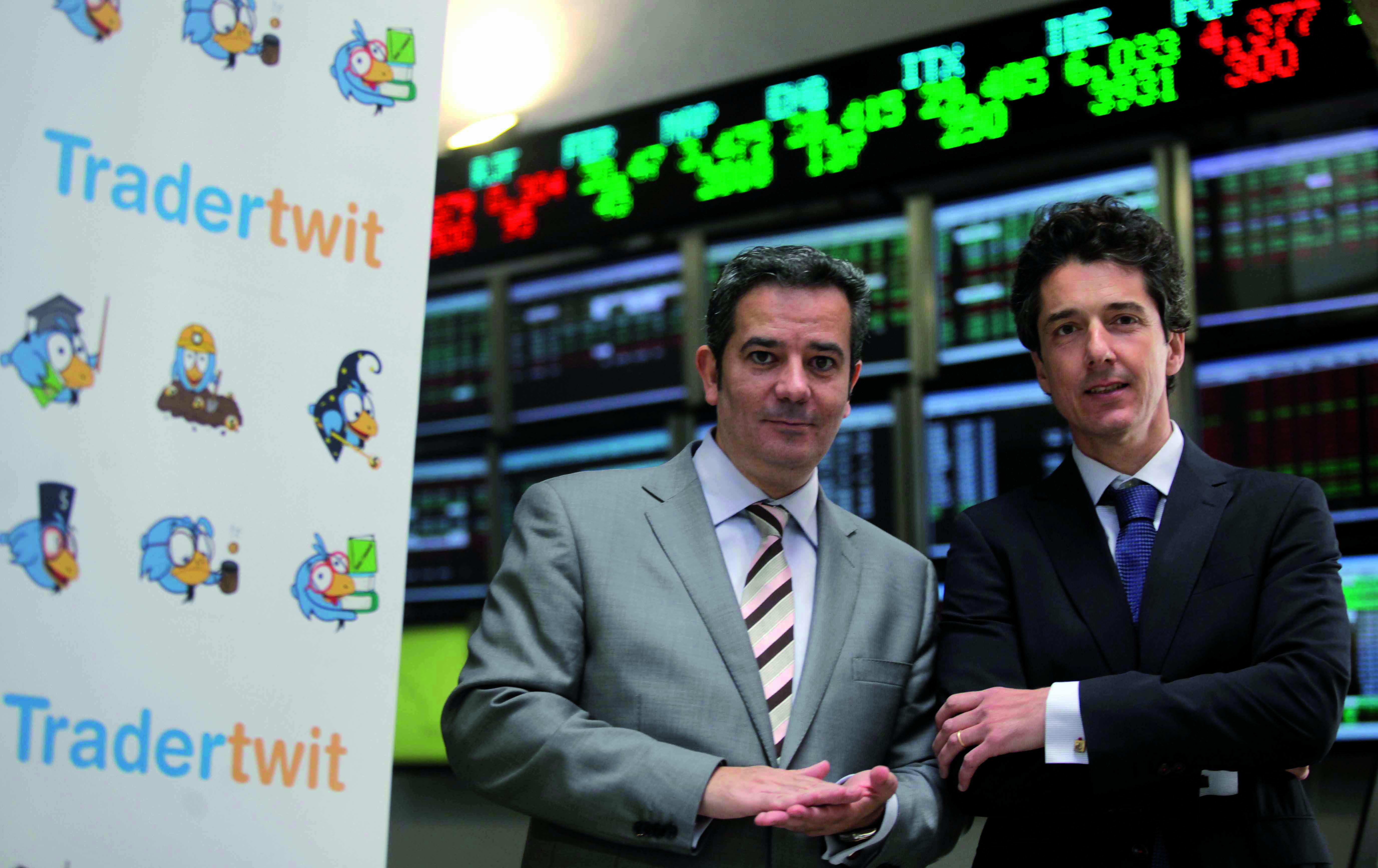 Los fundadores de Tradertwit. José Luis Cases (izquierda) y Pablo González (derecha). Fuente. Finanzas.com