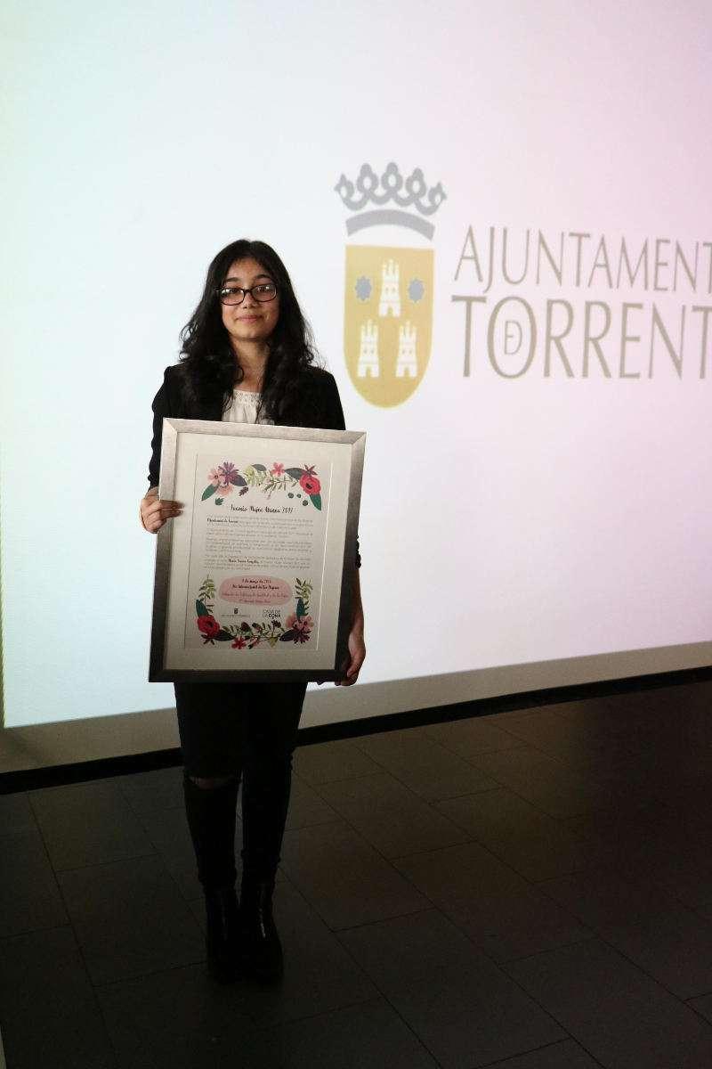 Gloria Torres de Torrent es Mujer Atenea 2017. EPDA