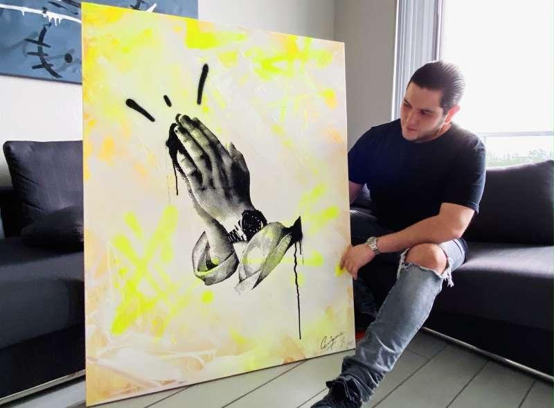 Enrique Enn muestra su pieza