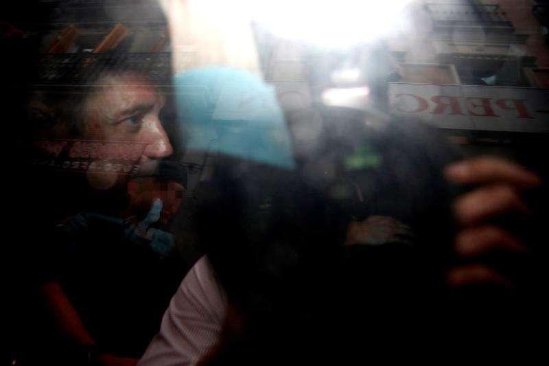 El expresident de la Generalitat y exministro Eduardo Zaplana, en su detención del pasado mes de mayo. EFE/Archivo