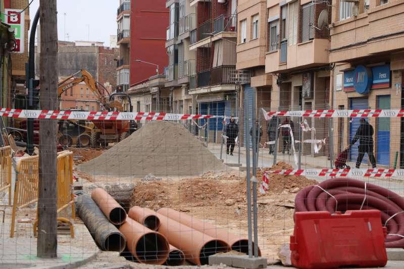 Obras en las calles de Torrent. EPDA