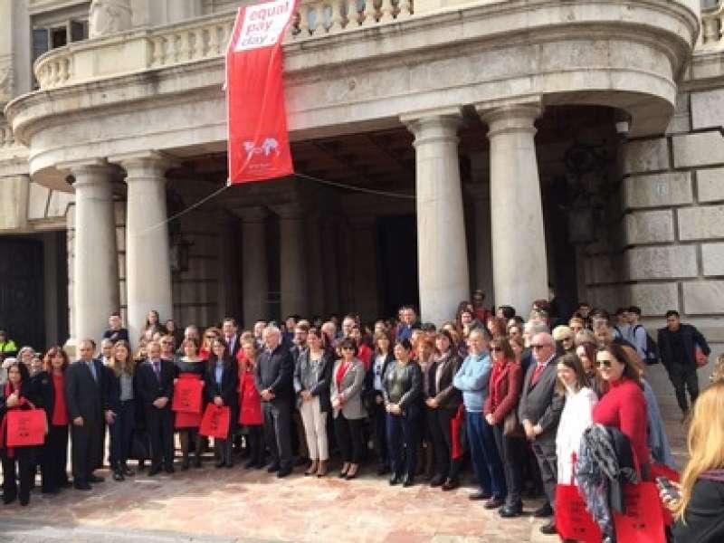 La Corporación Municipal se ha sumado a la celebración del Equal Pay Day. EPDA