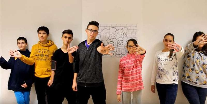 Jóvenes del grupo de teatro Casa de la Juventud de Vilamarxant. EPDA