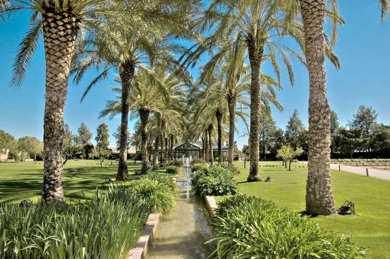 Uno de los jardines principales del Huerto de Santa María. EPDA