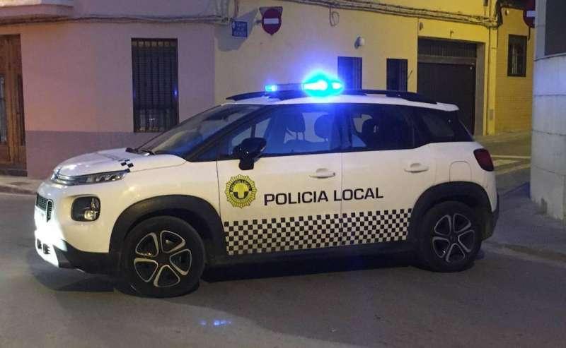Vehículo de la Policía Local de Massamagrell. EPDA