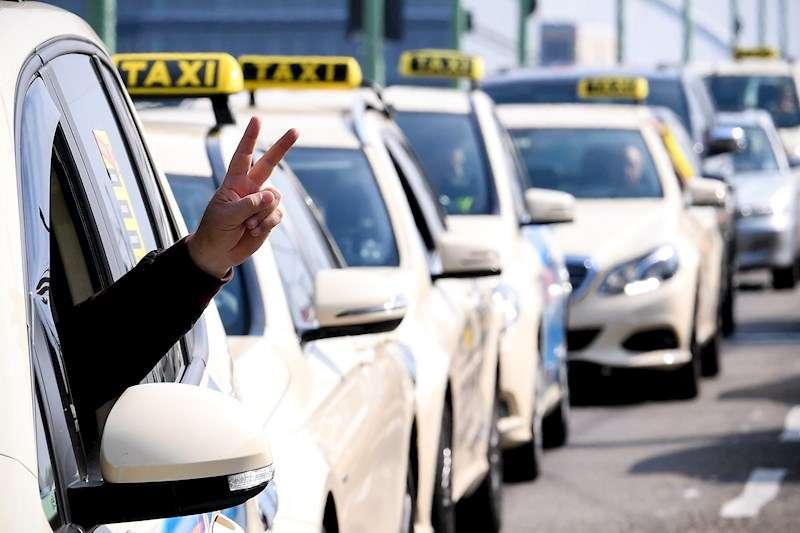 Protesta de los taxistas. EFE/Archivo