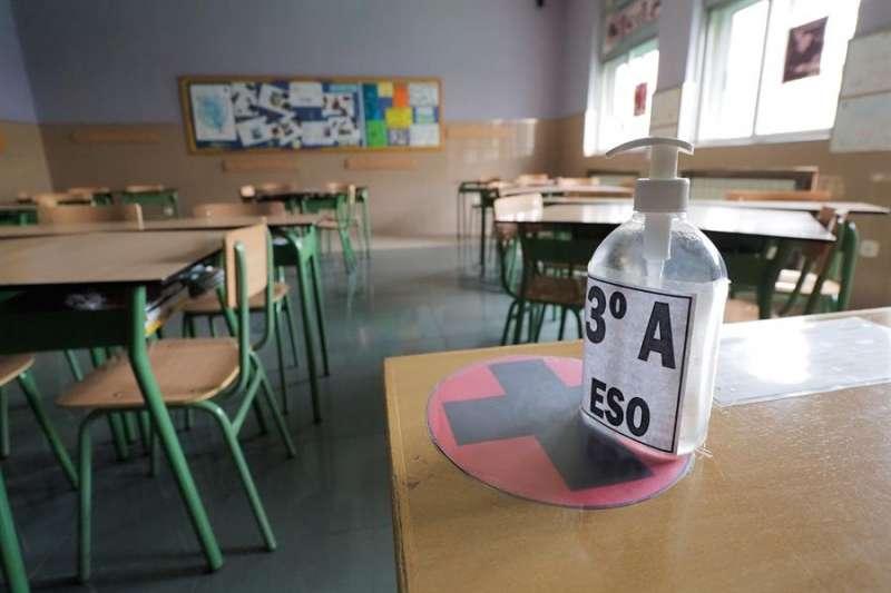 Un aula en una imagen de archivo. EFE