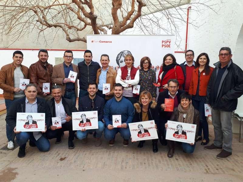Parte del equipo de apoyo a Eva Sanz. FOTO EPDA