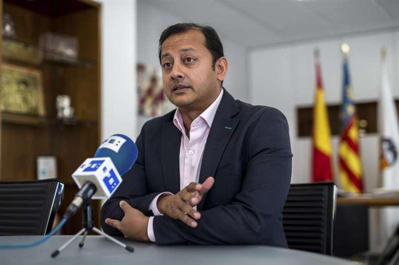 El presidente del Valencia CF, Anil Murthy, en una entrevista con la Agencia EFE. EFE/Archivo