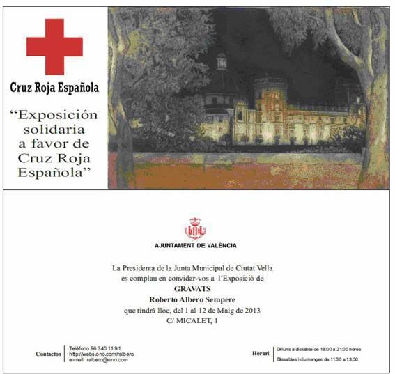 Invitación elaborada por Cruz Roja Valencia. FOTO EPDA