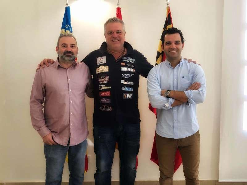 Imagen del Alcalde de Paterna junto a Juan Antonio Sagredo y José Manuel Mora. EPDA
