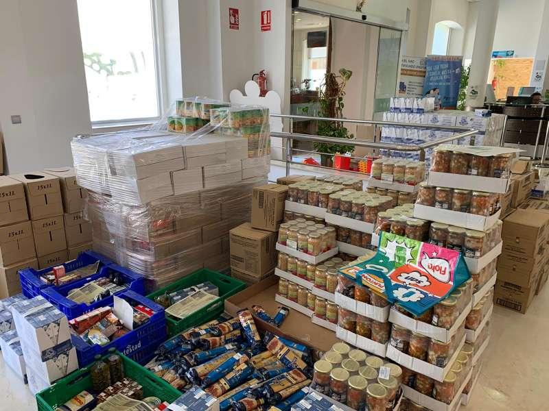 Alimentos para repartir. / EPDA