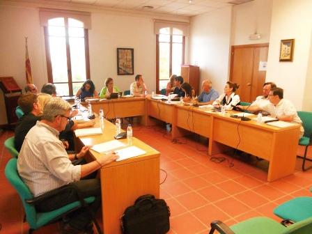 Concejales de Rocafort en un pleno ordinario. EPDA
