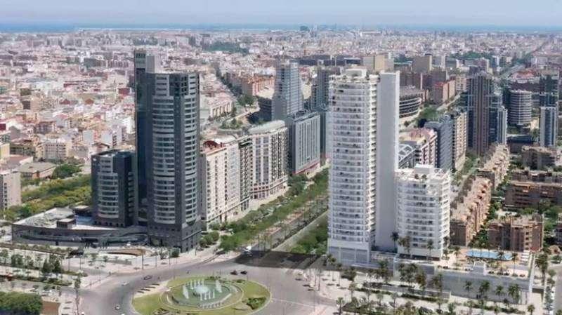 Cortes Valencianas, con el nuevo proyecto de edificio. EPDA