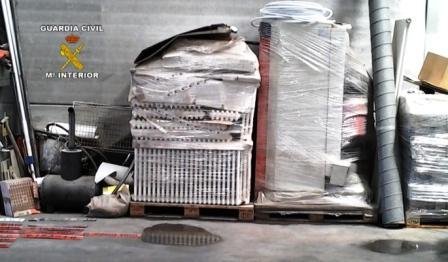Materiales incautados en la Operación ?THEFT?. Foto EPDA