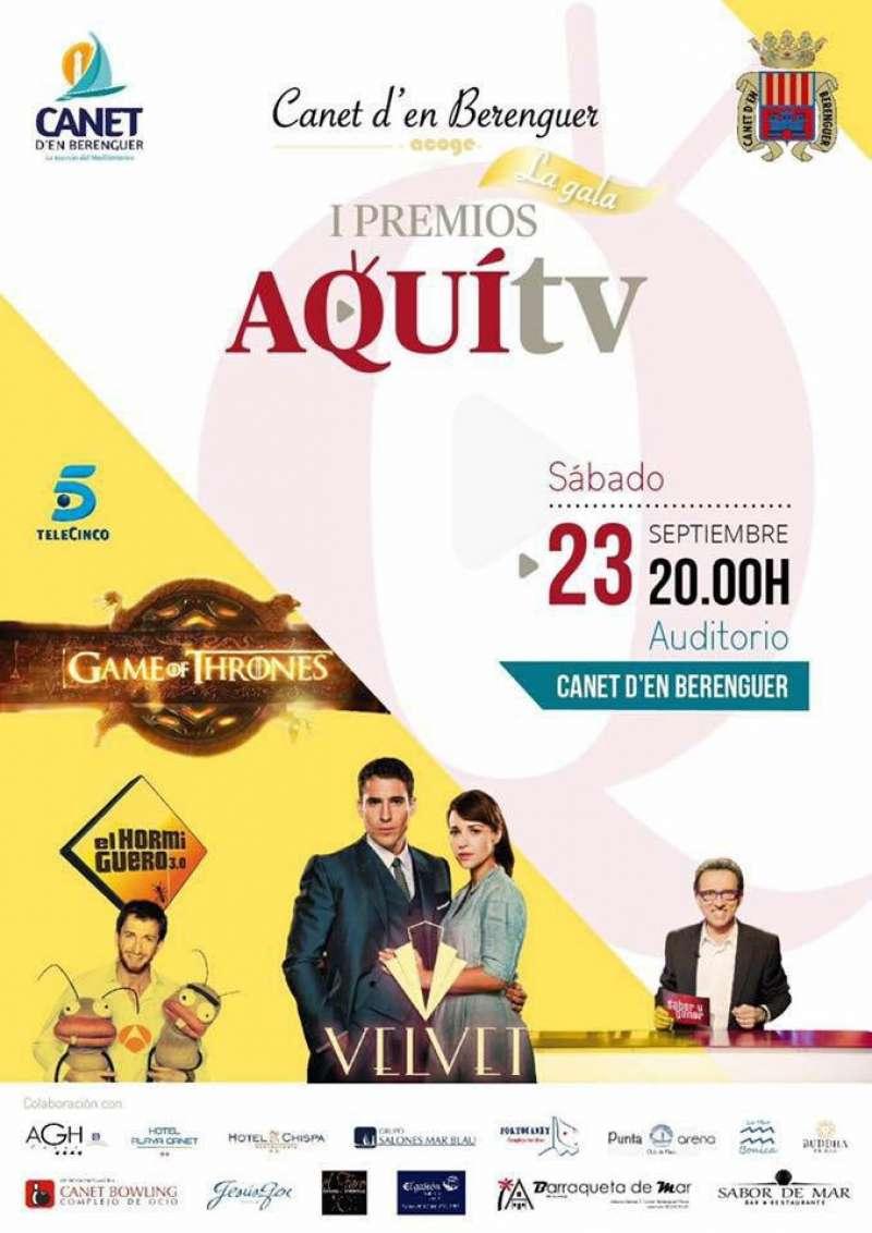 La gala tendrá lugar el día 23 de septiembre en el Auditorio de Canet.