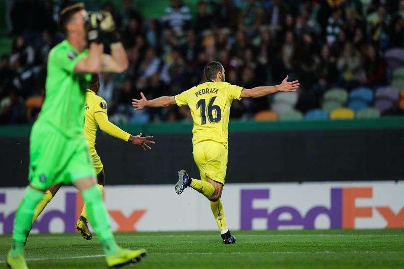 Alfonso Pedraza de Villarreal celebra el gol.  EFE
