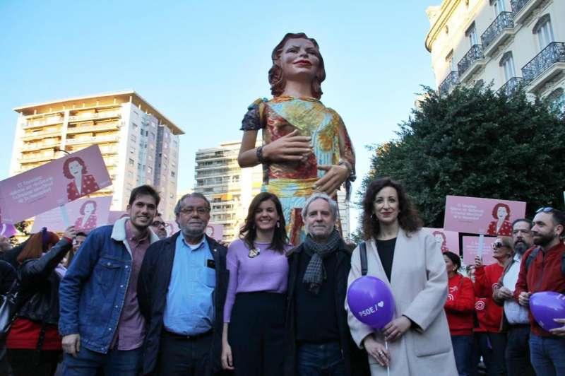 Sandra Gómez en la manifestación del 8M. EPDA