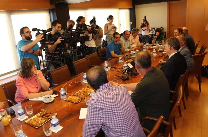 Puig en un desayuno con periodistas de la provincia de Alicante