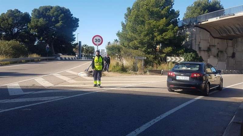 La carretera N-220 en Manises (Valencia). EFE/Ayuntamiento Manises