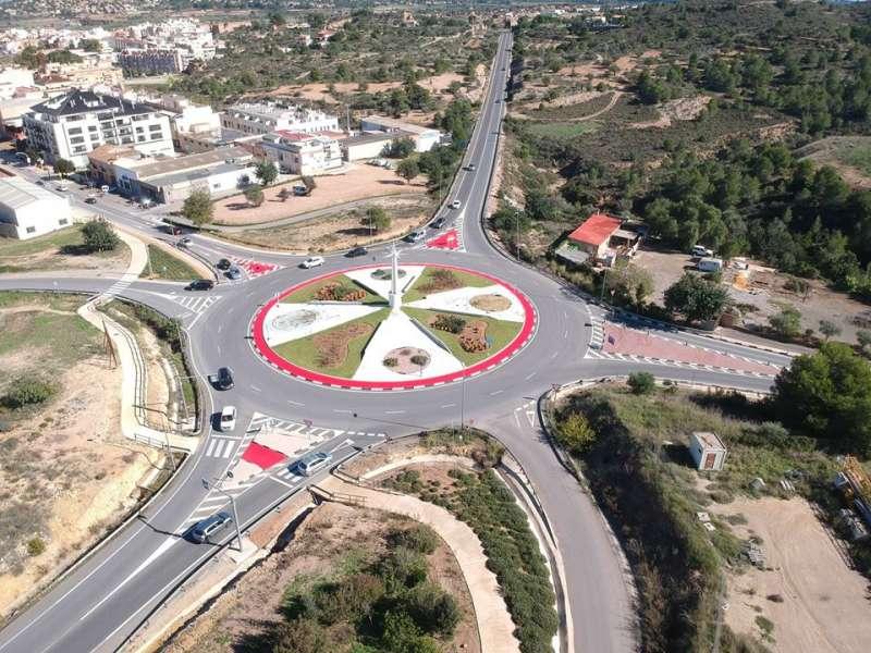 Rotonda de acceso a Riba-roja del Túria