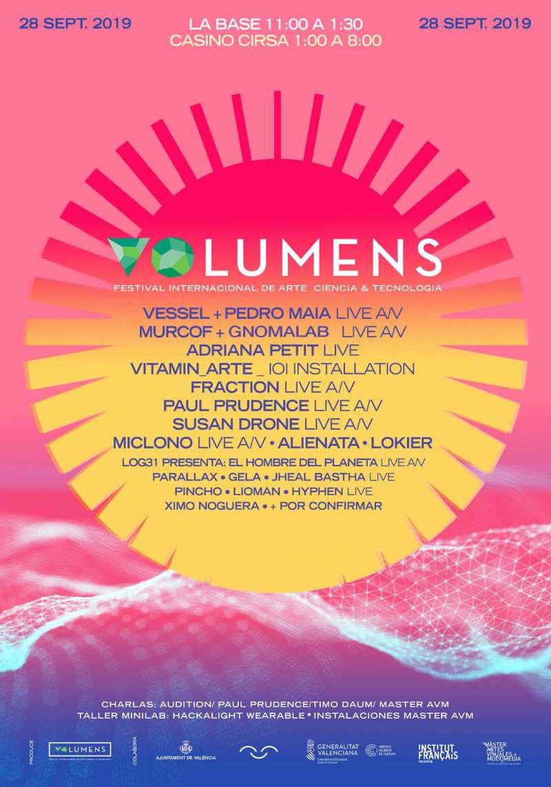 Cartel del festival VOlumens de València. EPDA
