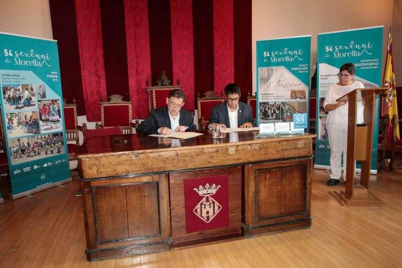 Signatura del conveni a Morella.