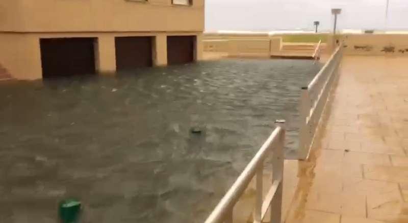 Inundación en Mareny de Barraquetes
