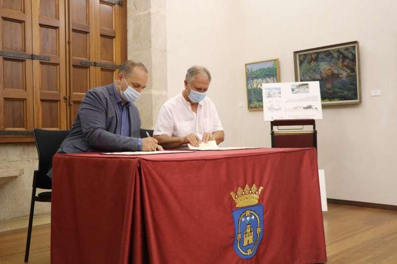 Momento de la firma del convenio. / EPDA