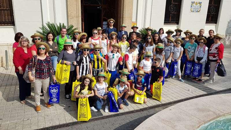 Niños de intercambio del programa Erasmus en Benetússer. EPDA