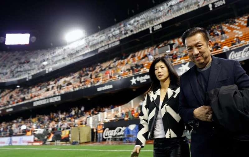 El magnate y dueño del Valencia CF, Peter Lim, en Mestalla. EFE/Juan Carlos Cárdenas/Archivo