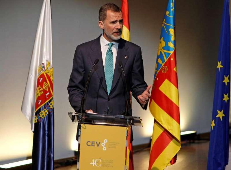El Rey Felipe VI durante un acto en Alicante.