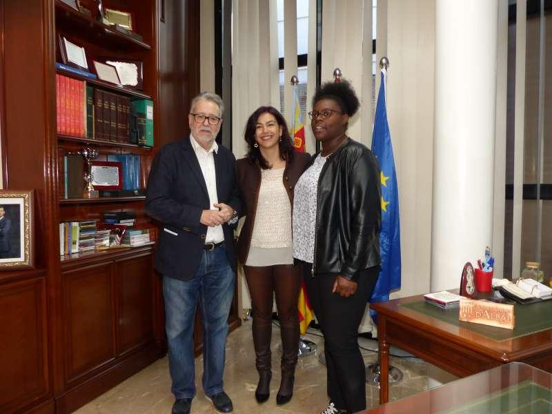 La secretaria de Estado de Deporte, el alcalde de Albal y la deportista local. EPDA