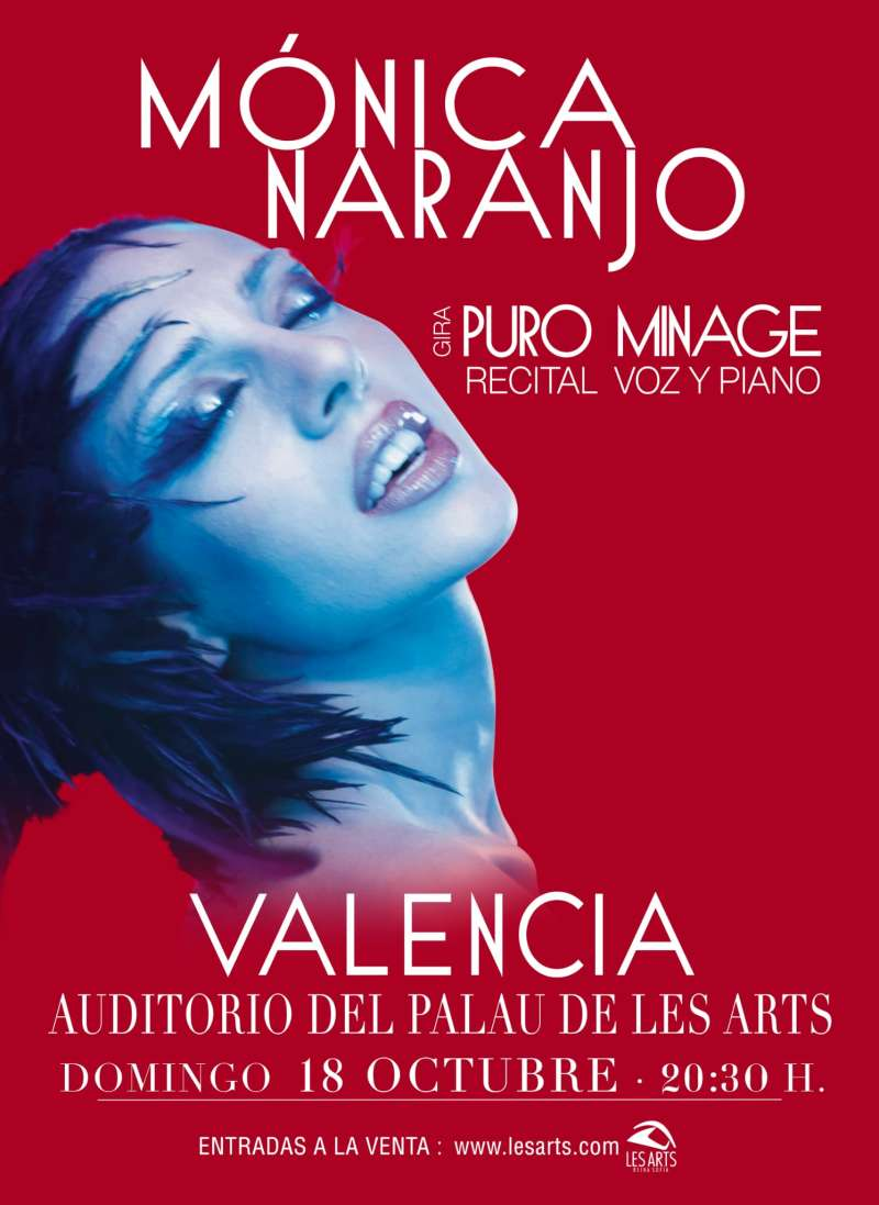 Cartel anunciado del concierto de Mónica Naranjo en el Palau de les Arts de Valencia. EPDA