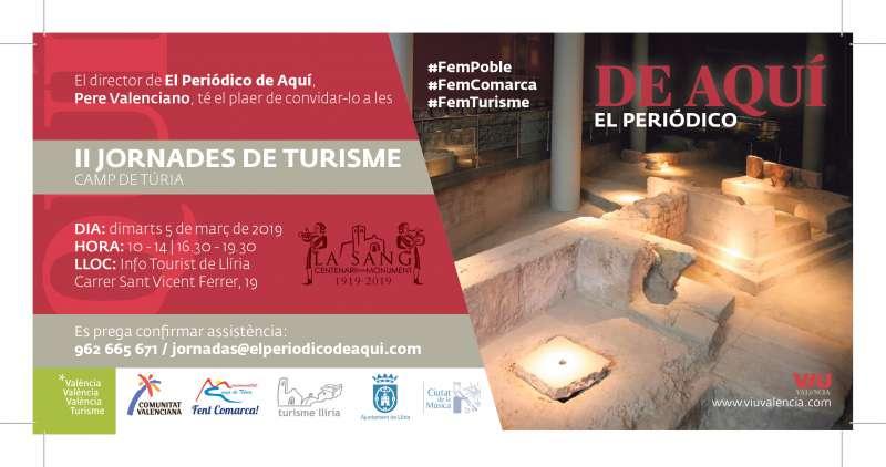 Invitació a les Jornades de Turisme