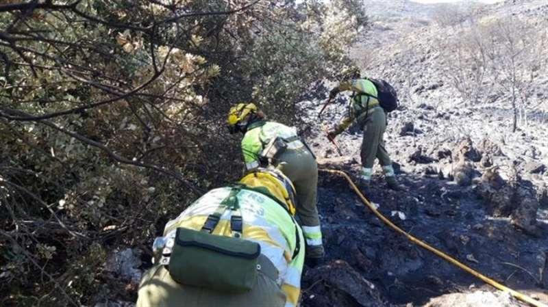 Imagen del incendio publicada en redes sociales por Emergencias de la Generalitat.