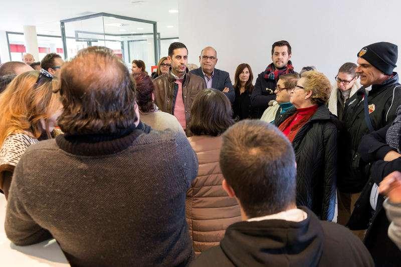El alcalde visita el nuevo Centro Ocupacional de Mislata. EPDA