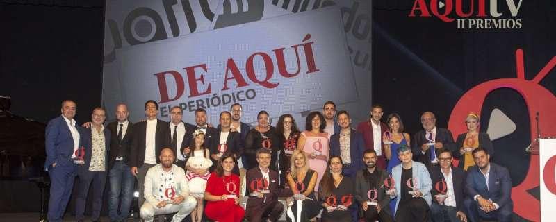Entrega de los II Premios Nacionales Aquí TV, en 2018. AQUÍ TV